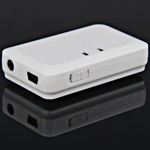 White Bluetooth Music Receiver with Stereo Output (3.5 mm) for Home and Auto Stereo Systems by Atomic Market