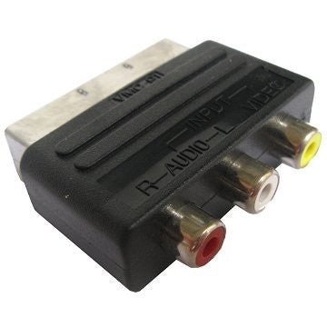 RGB Scart 20 Pin Male to 3 RCA AV Female Adapter Converter by Atomic Market