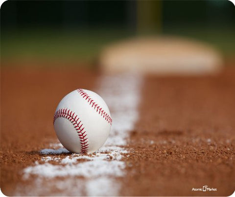 Baseball on Infield Mousepad by Atomic Market