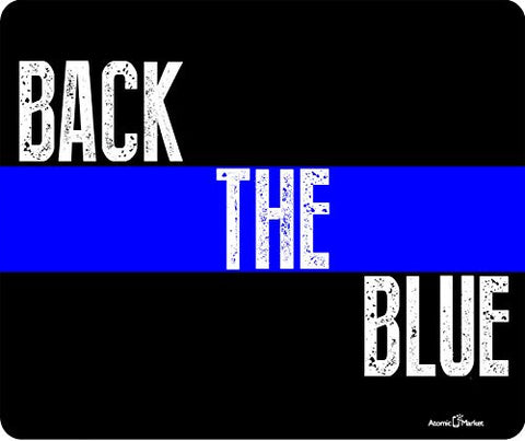 Back The Blue Police Thick Mousepad by Atomic Market