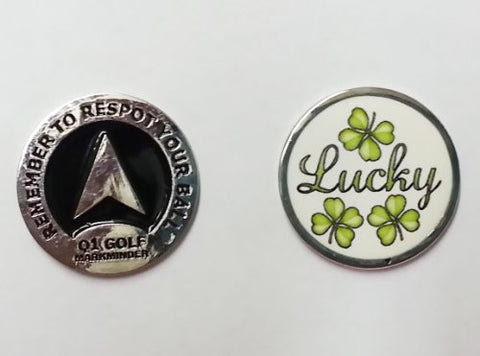 3 Lucky Clover Die Struck Golf Ball Marker By Atomic Market