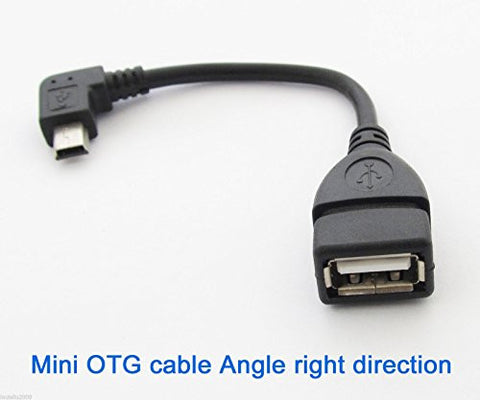90 Degree Right Angle USB Host Cable mini B male to USB A female OTG by Atomic Market