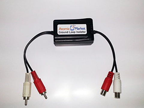 Ground Loop Isolator Noise Filter RCA Connection by Atomic Market