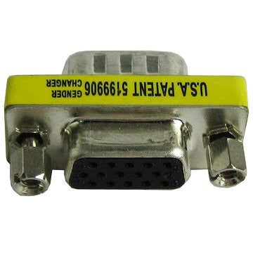 VGA 15 Pin female To female Connector Mini Gender Changer by Atomic Market