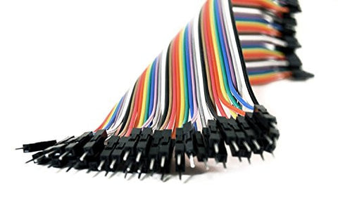 20CM Male To Male Jumper Wire- Cable 40PACK Compatible With Arduino by Atomic Market