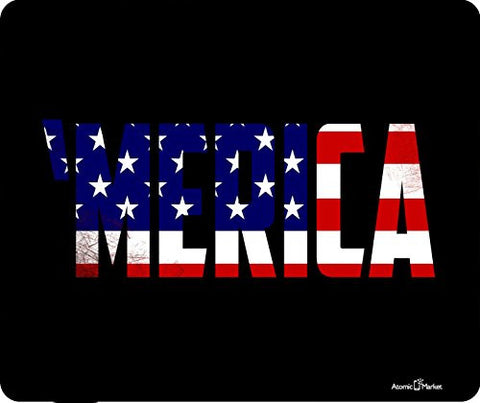 'Merica With USA Flag Outline Thick Mousepad by Atomic Market