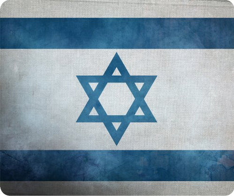 Israeli Grunge Flag Thick Mouse Pad