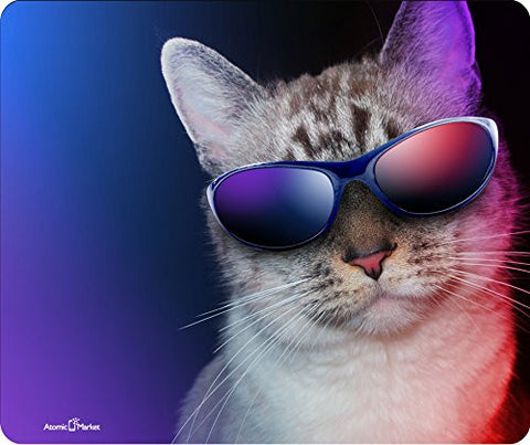 Cool Cat In Shades Thick Mousepad by Atomic Market