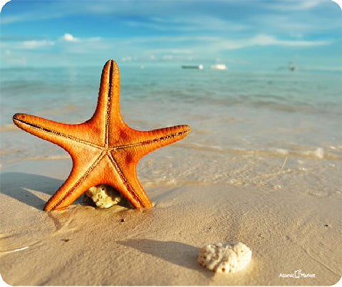 Star Fish On The Beach Mousepad by Atomic Market