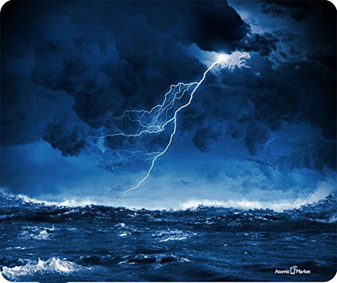 Ocean Storm With Lighting Bolt Mousepad by Atomic Market