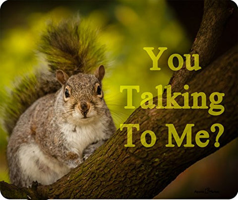 You Talking To Me Squirrel Thick Mousepad by Atomic Market