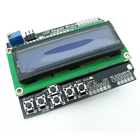 Keypad Shield with LCD1602 Compatible With Arduino Duemilanove UNO MEGA2560 MEGA1280 by Atomic Market