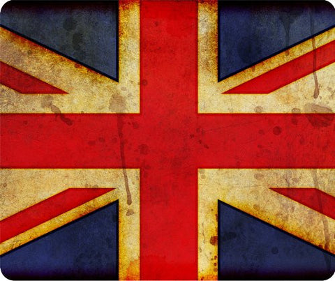 Union Jack British Flag Grunge Thick Mouse Pad