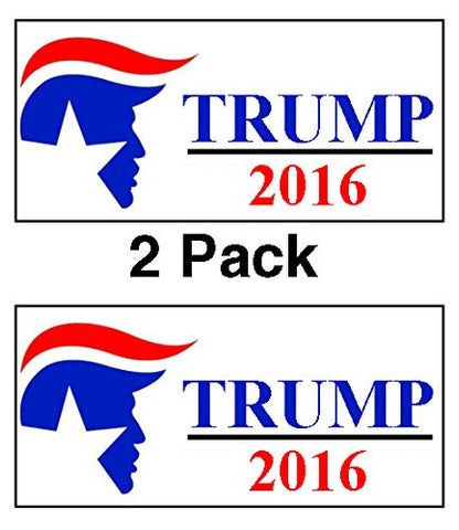 Donald Trump For President 2016 Hard Hat Lunhch Box Mini Decal Sticker 2 Pack by Atomic Market