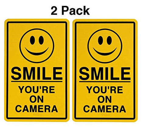Smile You're On Camera Surveillance Video Taping Decals Sticker 2 Pack by Atomic Market