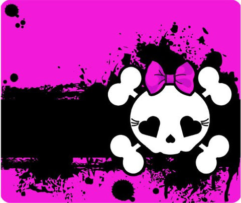 Hot Pink Girl Skull Mouse Pad