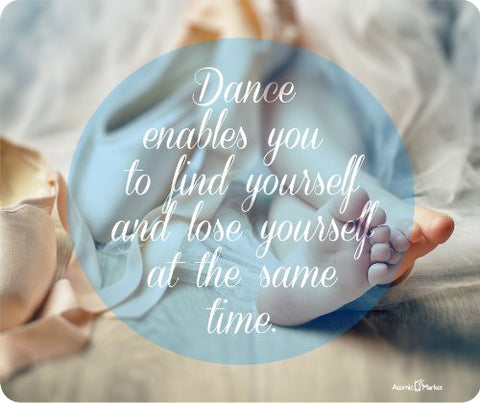 Dance Enables You To Find Yourself and Loose Yourself Mousepad by Atomic Market