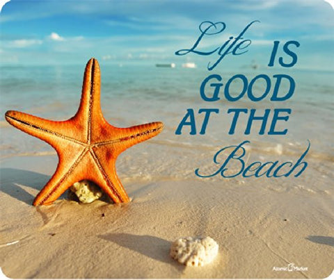 Beach Life Is Good With Star Fish Mousepad by Atomic Market