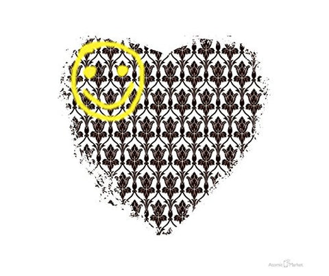 Sherlock Design Smiley Heart Thick Mousepad by Atomic Market