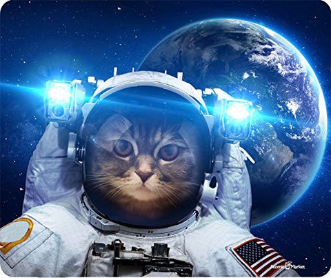 Cat In Space Thick Mousepad by Atomic Market