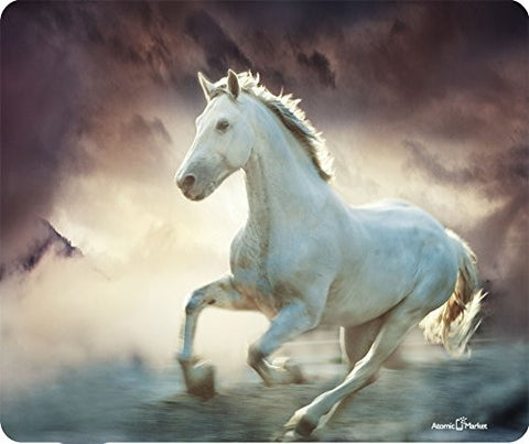 White Horse Running Wild Thick Mousepad by Atomic Market
