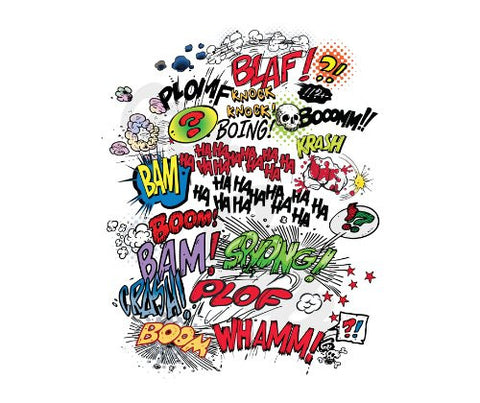 Comic Book Words Thick Mouse Pad