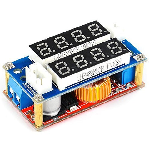 5A Constant Current/Voltage LED Driver Battery Charging Module Voltmeter Ammeter Compatible With Arduino by Atomic Market