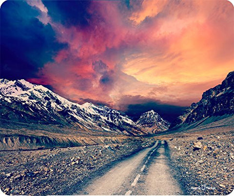 Retro Effect Road To The Mountains Mousepad by Atomic Market