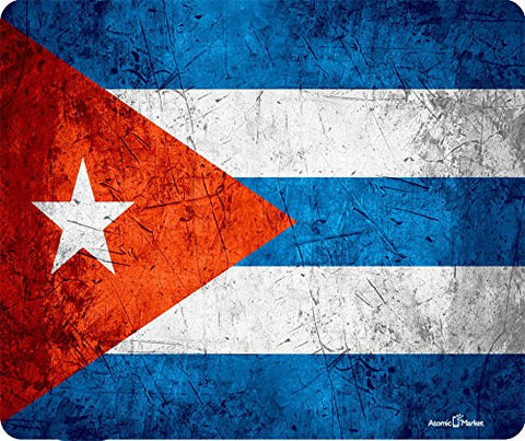 Cuban Grunge Flag Thick Mousepad by Atomic Market