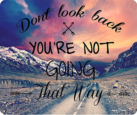 Don't Look Back Road Into Mountains Mousepad by Atomic Market