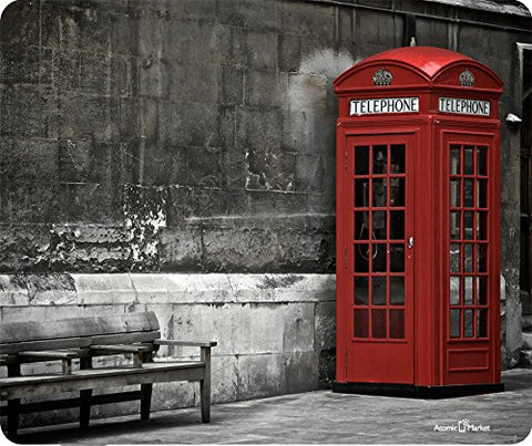 British Telephone Booth Thick Mousepad by Atomic Market