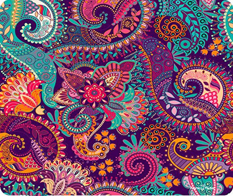 Paisley Paint Bright Thick Mousepad by Atomic Market