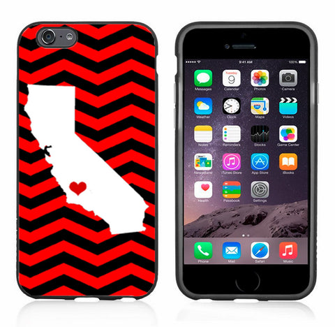 Chevron With California Outline Red And Black
