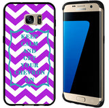 Purple & Turquoise Keep Calm and Get Your Chevron On