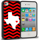 Chevron With Texas Outline Red And Black