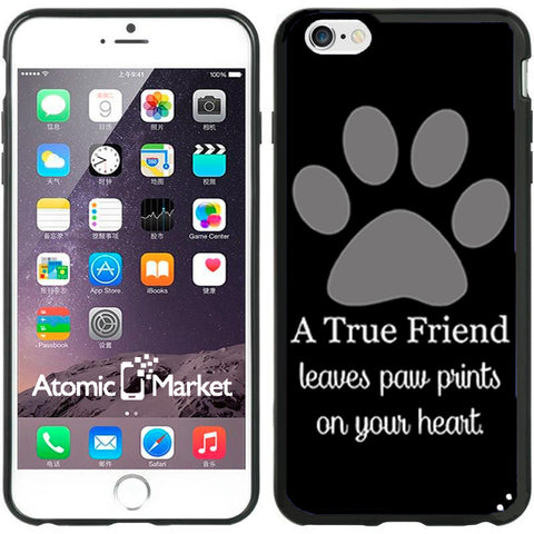 A True Friend Leaves Paw Prints On Your Heart Black
