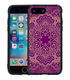 Purple Mandala Flower Pattern