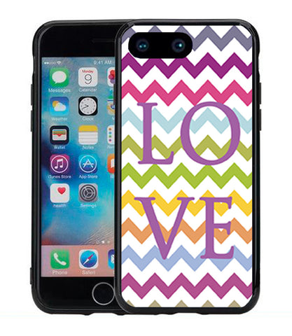 Chevron Rainbow Word Love