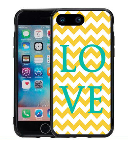 Chevron Yellow Word Love