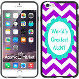 Chevron Purple Greatest Aunt