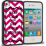 Pink Keep Calm and Get Your Chevron On