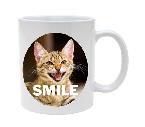 Ceramic Smile With Cat 11oz Coffee Mug Cup