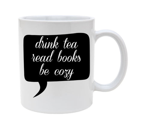 Ceramic Drink Tea Read Books 11oz Coffee Mug Cup