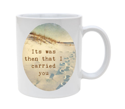 Ceramic Footprints Poem 11oz Coffee Mug Cup