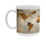 Ceramic Grunge World Map 11oz Coffee Mug Cup