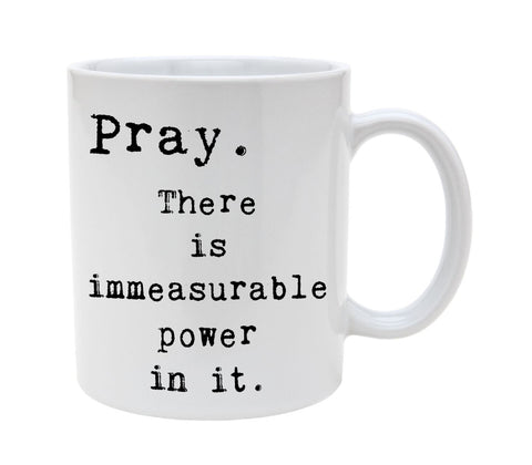 Ceramic Religious Pray Definition 11oz Coffee Mug Cup