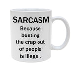 Ceramic Sarcasm Defintion Black And White 11oz Coffee Mug Cup