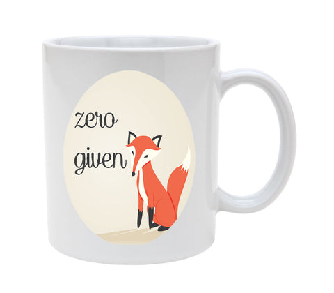Ceramic Zero Fox Given 11oz Coffee Mug Cup