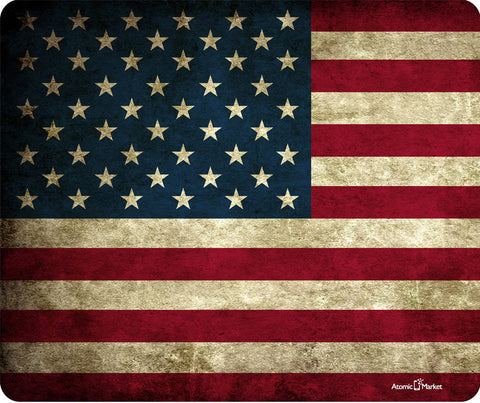 US American Flag Grunge Thick Mouse Pad