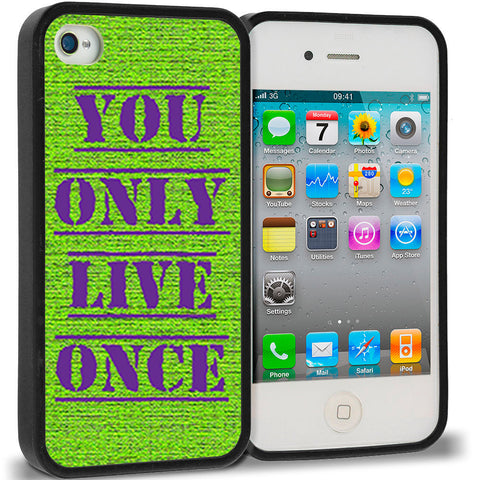YOLO You Only Live Once Green Purple
